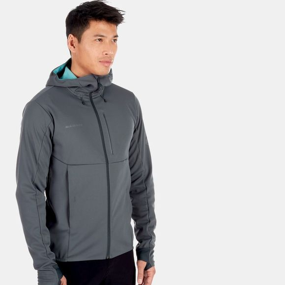 Mammut Mens Ultimate V SO Hooded Jacket Storm/Waters Melange