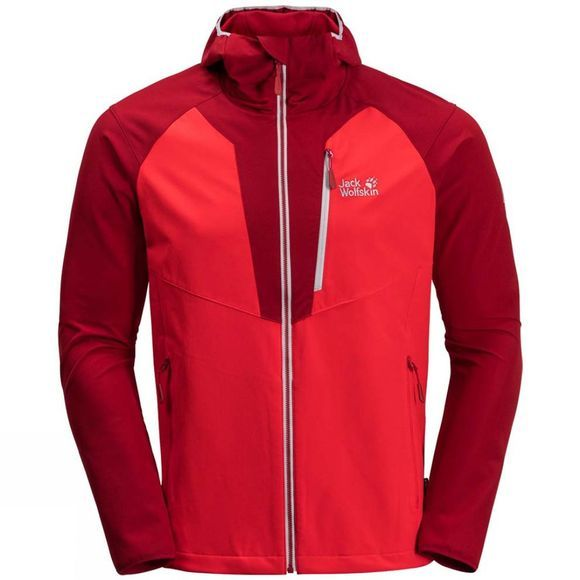 Jack Wolfskin Mens Kanuka Point Jacket Peak Red