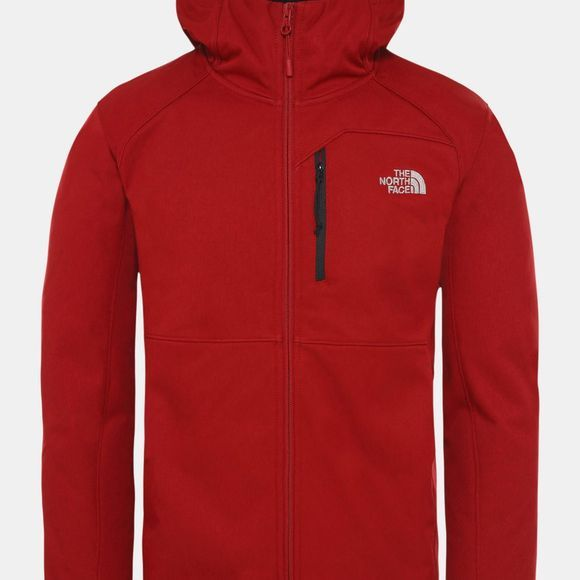 The North Face Mens Quest Softshell Jacket Cardinal Red Heather