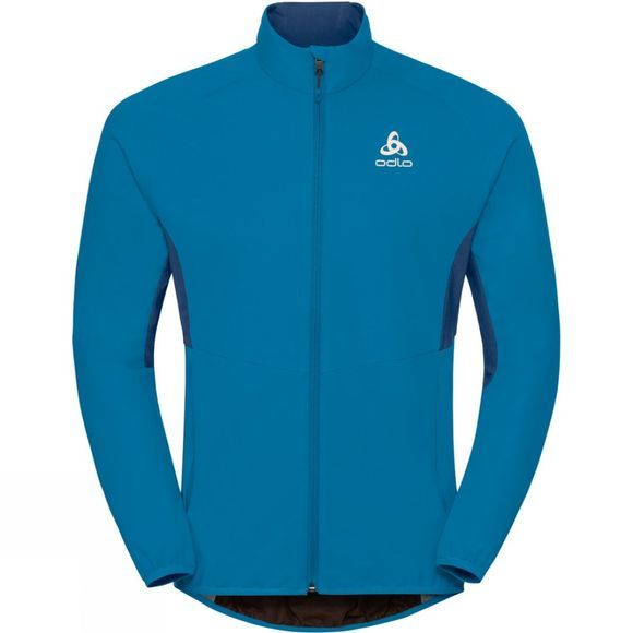 Odlo Mens Aeolus Element Jacket Blue Jewel - Poseidon