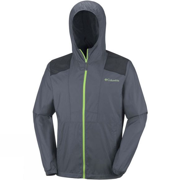 Columbia Mens Flashback Windbreaker Graphite/Black