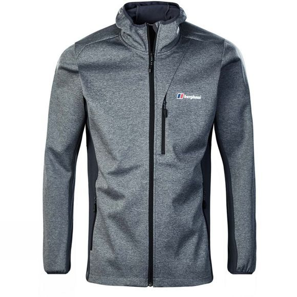 Berghaus Mens Fortress Windproof Jacket Carbon Marl/Carbon