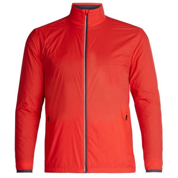 Icebreaker Mens Incline Windbreaker Top Chili Red/Monsoon