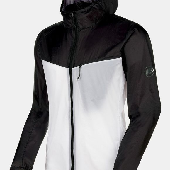 Mammut Mens Convey WB Hooded Jacket Black/Bright White