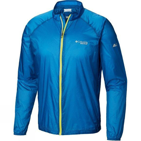 Columbia Mens F.K.T. Wind Jacket Deep Lagoon Embosed
