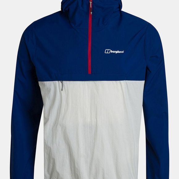 Berghaus Mens Corbeck Windproof Half Zip Sodalite Blue/Vaporous Grey