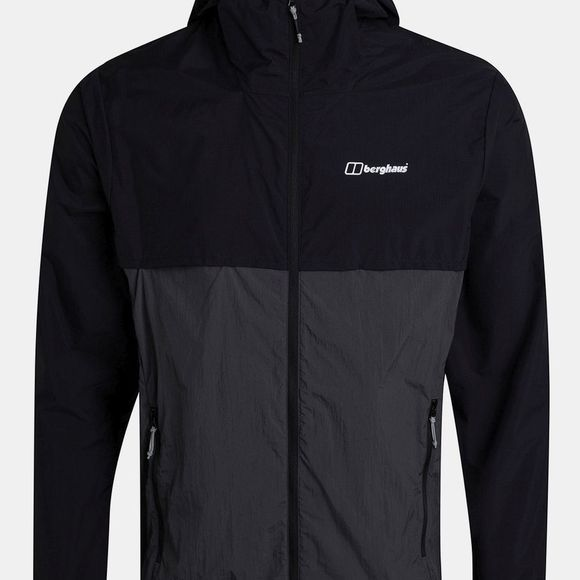 Berghaus Mens Corbeck Windproof Jacket Jet Black/Grey Pinstripe