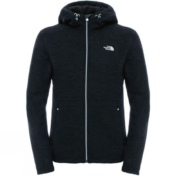 The North Face Mens Zermatt Full Zip Hoodie TNF Black Heather