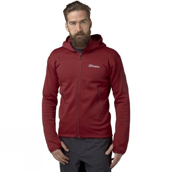 Berghaus Mens Pravitale 2.0 Hooded Jacket Extrem Red/Tango Red