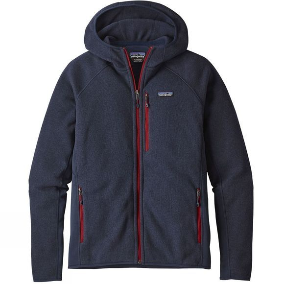 Patagonia Mens Performance Better Sweater Hoody Navy Blue