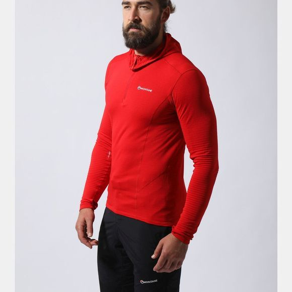 Montane Mens Allez Micro Hoodie Alpine Red