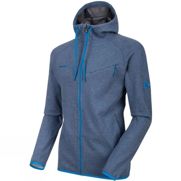Mammut Mens  Logo ML Hooded Jacket Marine Melange/Imperial