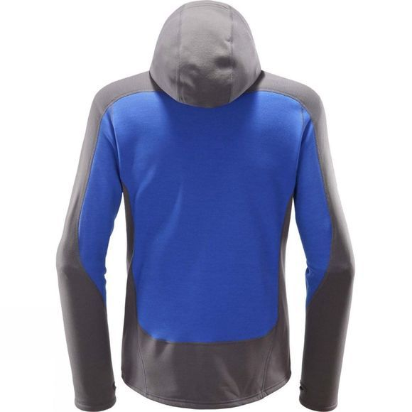 Haglofs Mens Serac Hooded Fleece Magnetite/Cobalt Blu