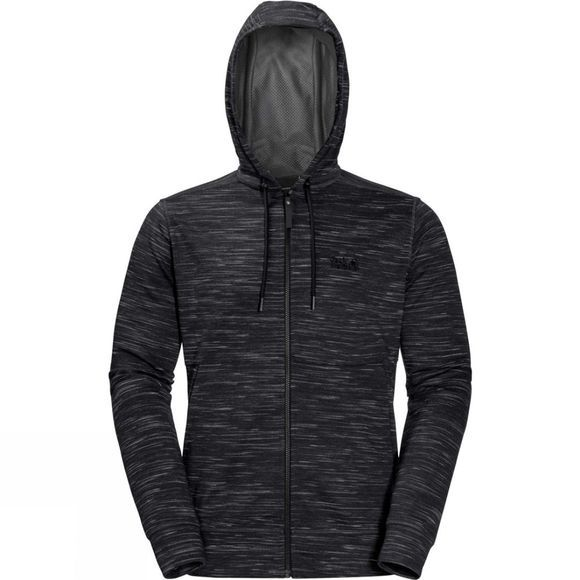 Jack Wolfskin Mens Oceanside Hooded Jacket Black