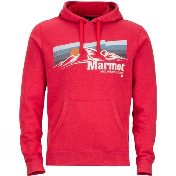 Marmot Mens Sunsetter Hoodie Auburn Heather