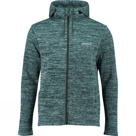 Ayacucho Mens Drasland Hooded Fleece Teal Blue Melange