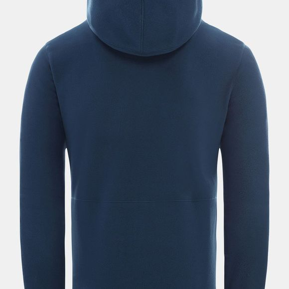The North Face Mens Blocked Full Zip Hoodie Blue Wing Teal/Clear Lake Blue