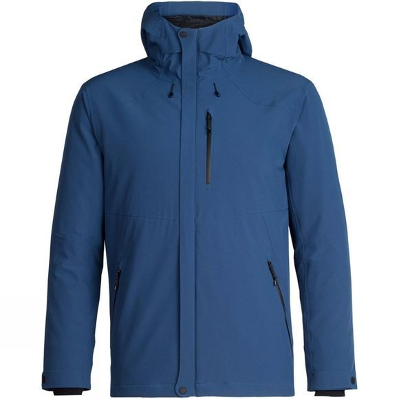 Icebreaker Mens Stratus Transcend Hooded Jacket Prussian Blue/Jet Heather