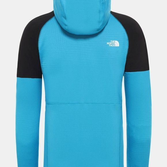 The North Face Mens Impendor Grid Hoodie Acoustic Blue/Tnf Black