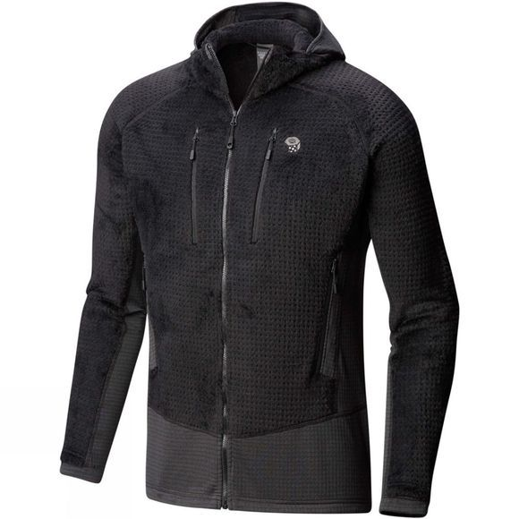 Mountain Hardwear Mens Monkey Man Grid Hooded Jacket Black
