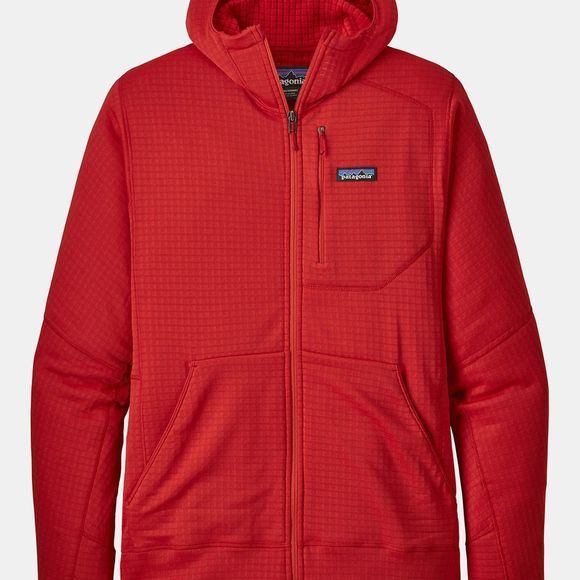 Patagonia Mens R1 Full Zip Hoody Fire Red