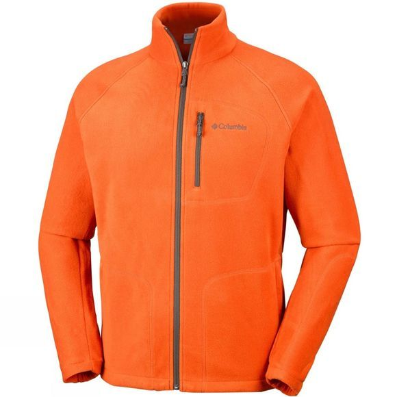 Columbia Mens Fast Trek II Full Zip Fleece Backcountry Orange/ Peatmoss