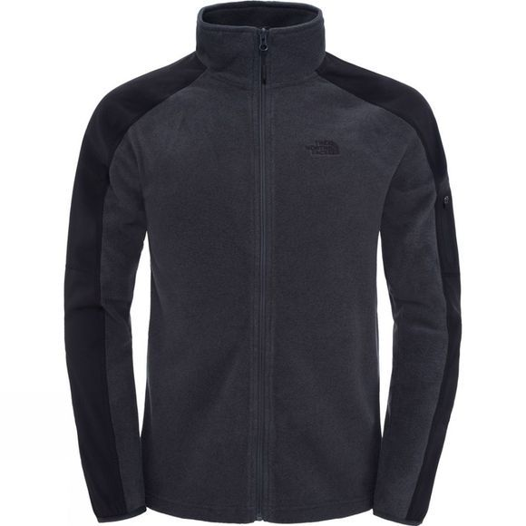 The North Face Mens Glacier Delta Full Zip Fleece TNF Dark Grey Heather