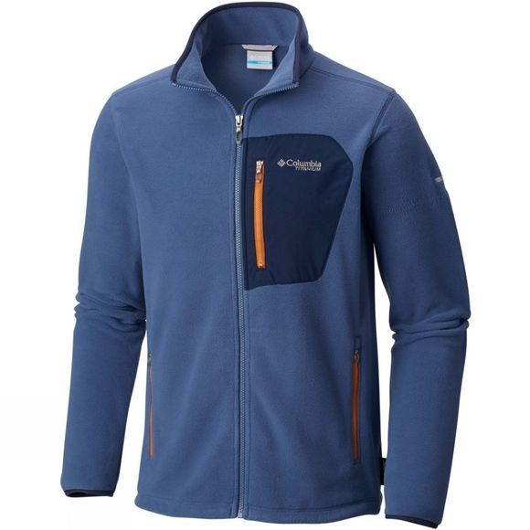 Columbia Mens Titan Pass 2.0 Fleece Jacket Dark Mountain/ Coll Navy