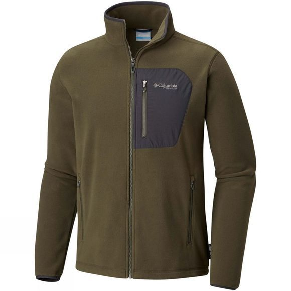 Columbia Mens Titan Pass 2.0 Fleece Jacket Peatmoss/ Shark
