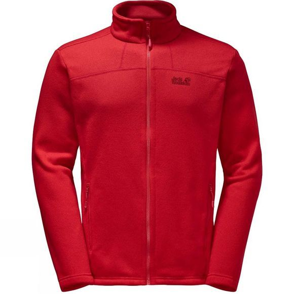 Jack Wolfskin Mens Castle Rock Fleece Ruby Red