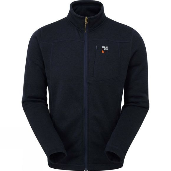Sprayway Mens Minos Full-Zip Fleece Blazer/Crocodile Trim