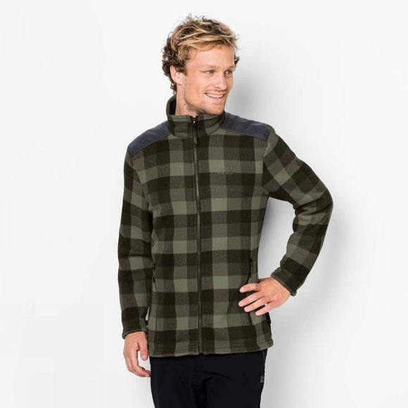 Mens Cabot Check Fleece Jacket