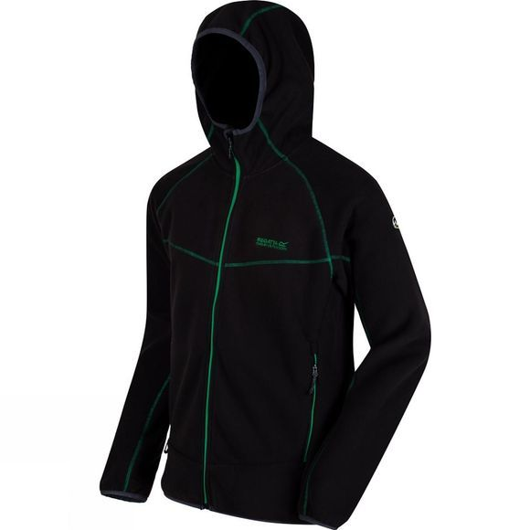 Regatta Mens Warnell Full Zip Fleece Black