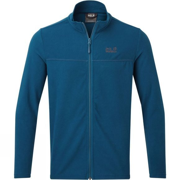 Jack Wolfskin Mens Tokee Full Zip Fleece  Poseidon Blue