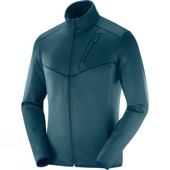 Salomon Mens Discovery Full Zip Reflecting Pond Heat