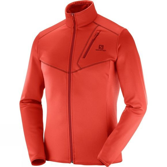 Salomon Mens Discovery Full Zip Fiery Red