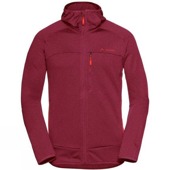 Vaude Mens Tekoa Fleece Jacket Salsa