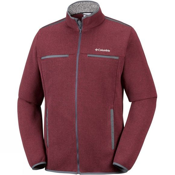 Columbia Mens Terpin Point III Full Zip Fleece Red Element