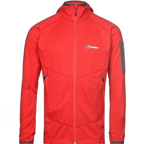 Berghaus Mens Pravitale MTN Light 2.0 Fleece Jacket Volcano