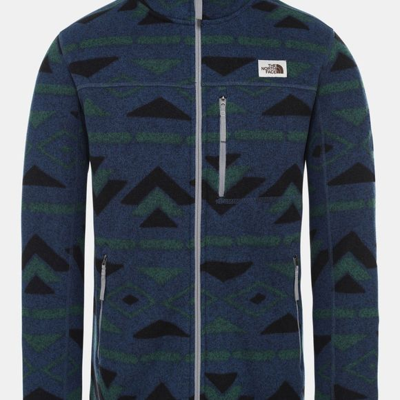 The North Face Mens Gordon Lyons Novelty Jacket Blue Wing Teal California Geo Stripe Print
