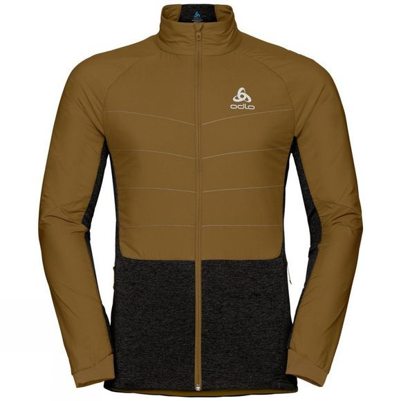Odlo Mens Millennium S-Thermic Jacket Golden Brown - Black