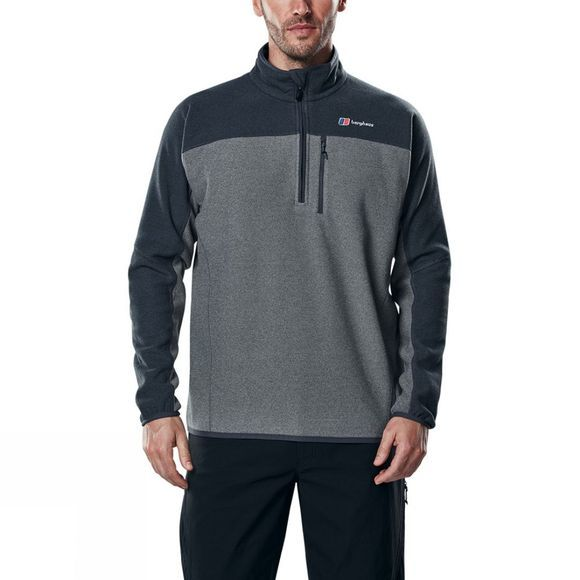 Berghaus Mens Stainton Half Zip Fleece Grey Marl/Jet Black Marl