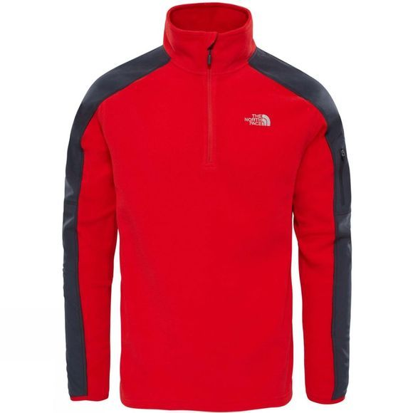 The North Face Mens Glacier Delta 1/4 Zip Fleece  High Risk Red