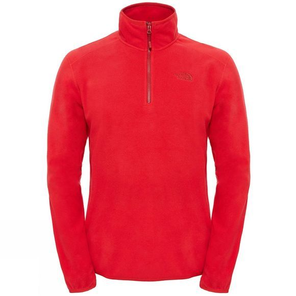 The North Face Mens 100 Glacier 1/4 Zip Fleece TNF Red