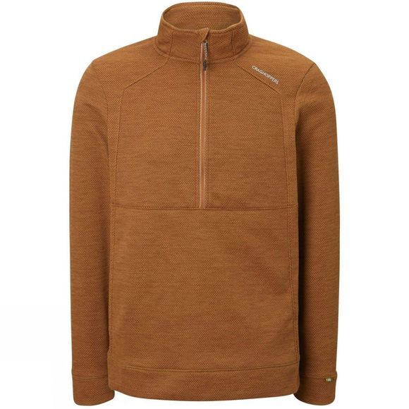 Craghoppers Mens Vector Half Zip Fleece Russet