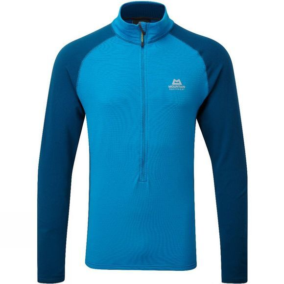 Mountain Equipment Mens Eclipse Zip Tee Lagoon Blue/Marine
