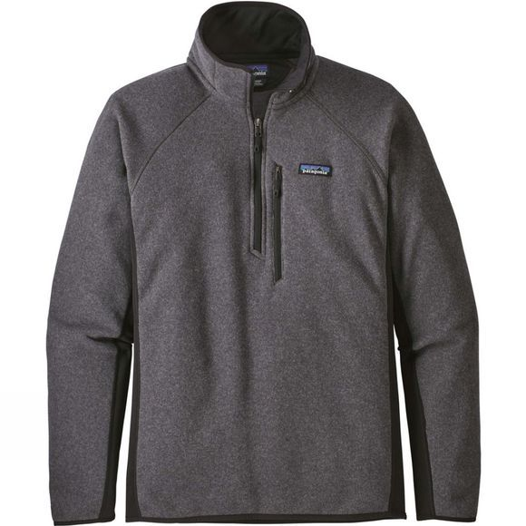 Patagonia Mens Performance Better Sweater 1/4 Zip Forge grey w/ Black