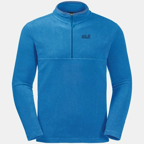 Jack Wolfskin Mens Arco Fleece Brilliant Blue Stripes