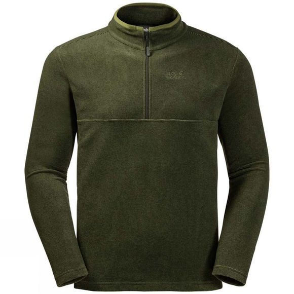 Jack Wolfskin Mens Arco Fleece Cypress Green Stripe