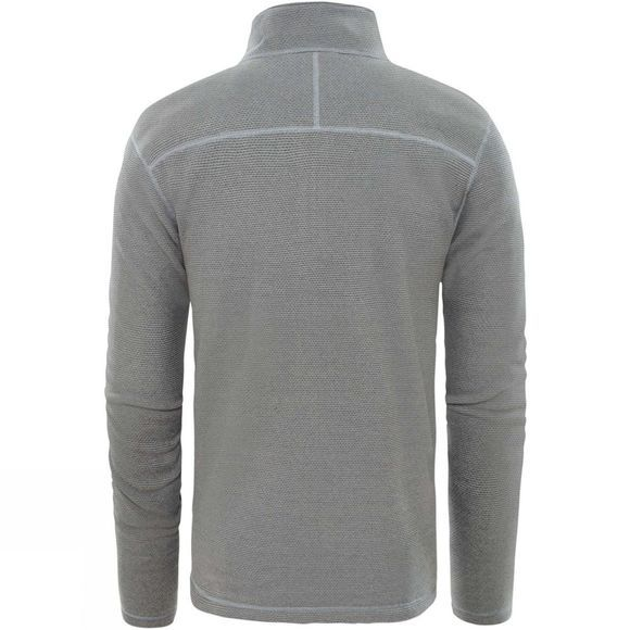 The North Face Mens Textured Cap Rock 1/2 Zip Fleece Mid Grey
